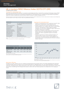 ETF Factsheet - DB X-Trackers