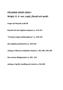 List of literature Utdrag att läsa ur von Wright (Word 11.9 kB)