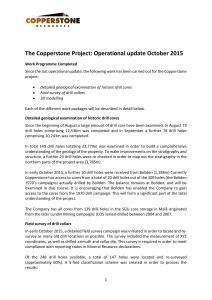 Copperstone Operational update October 2015 final