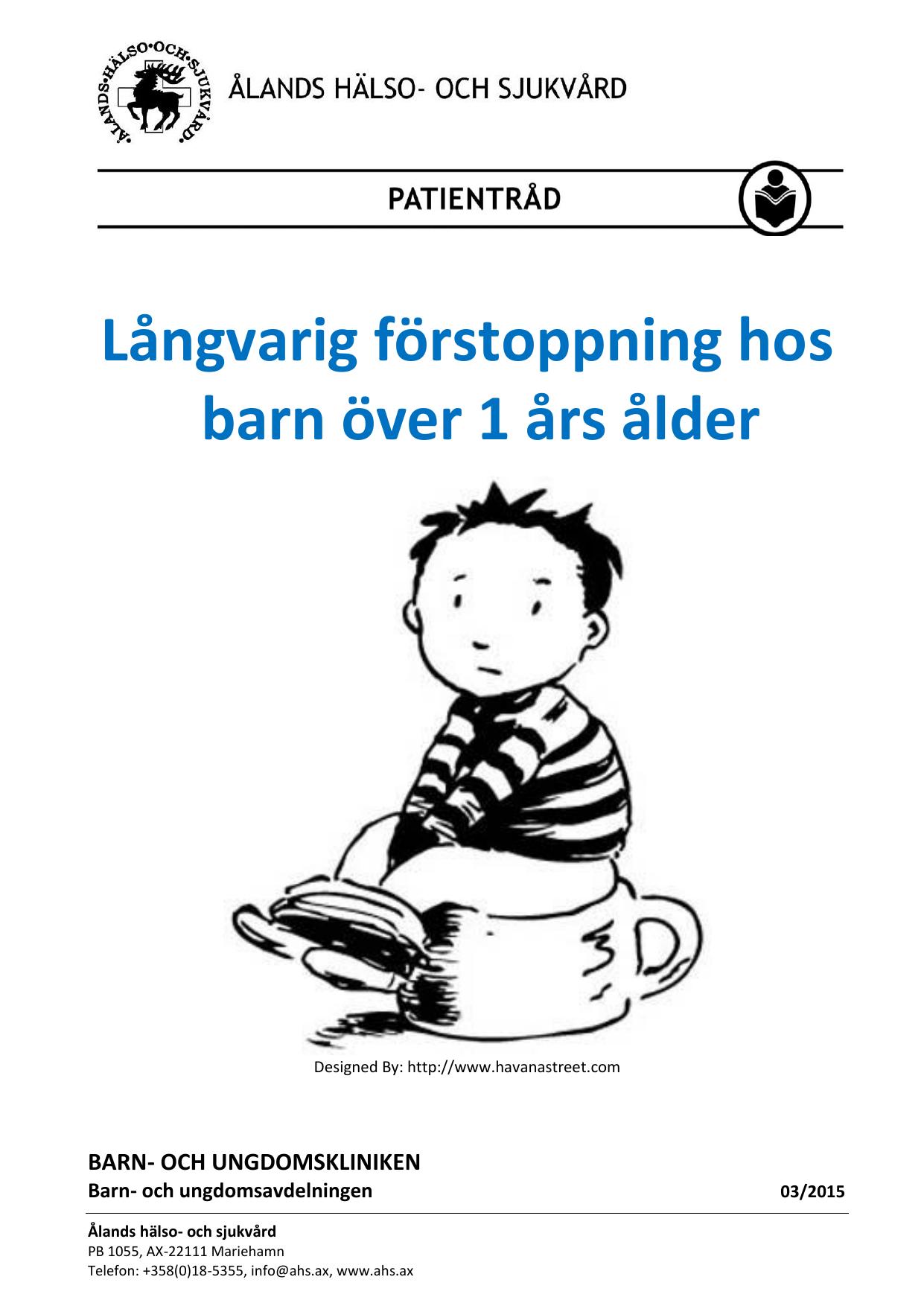 Långvarig Förstoppning Hos Barn över 1 års ålder