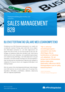 Sales Management B2B