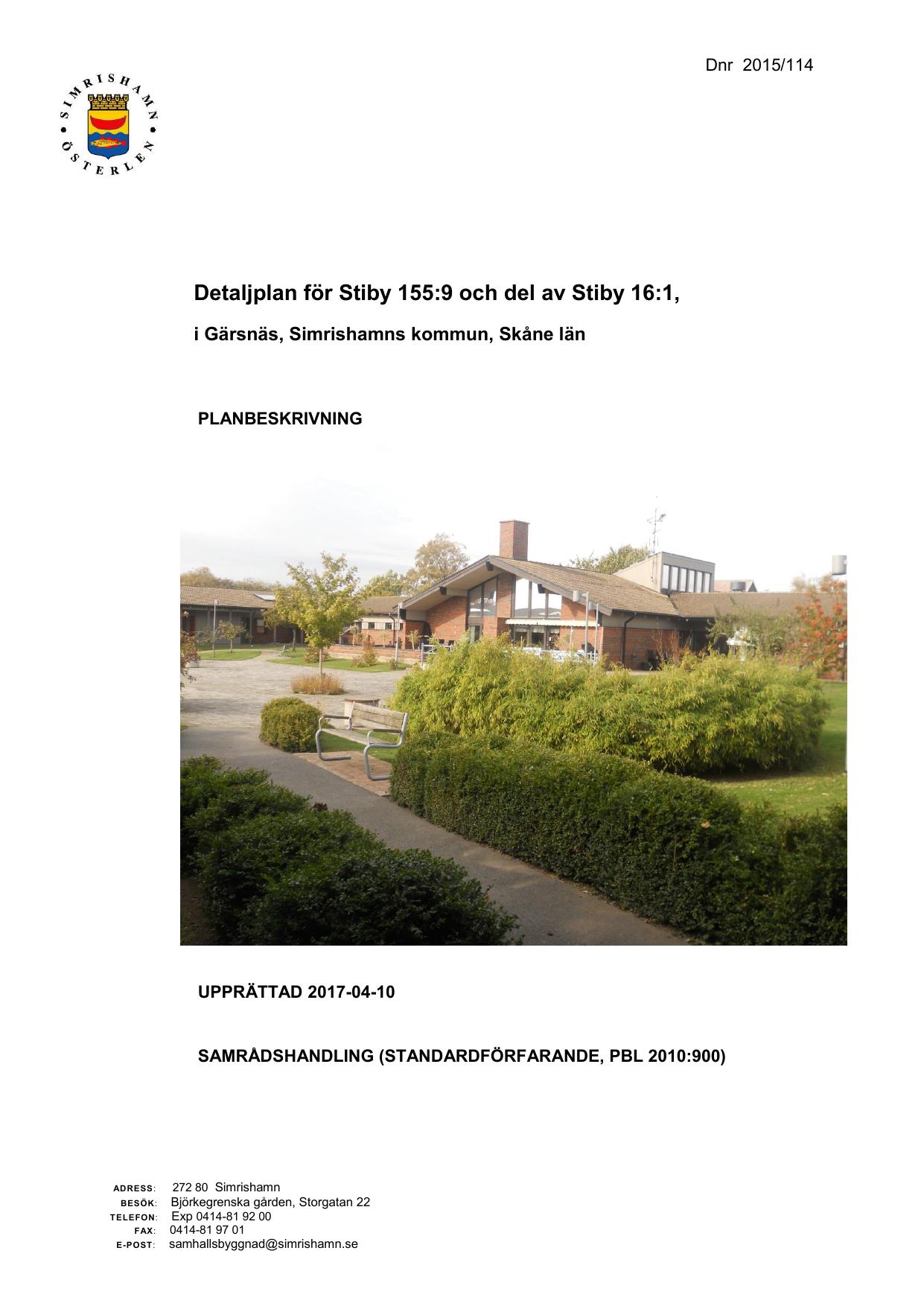 Grsns, Borrby, Hammenhg och Sankt Olof - PDF Free