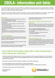 Kunskapsläget om ebola bland Örebros läkarstudenter