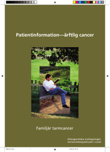 Patientinformation—ärftlig cancer