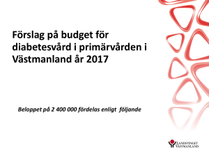 Budget diabetes - Region Västmanland
