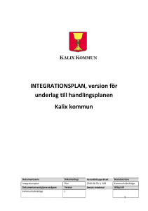 INTEGRATIONSPLAN, version för underlag till
