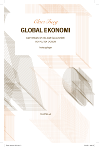 Claes Berg GLOBAL EKONOMI