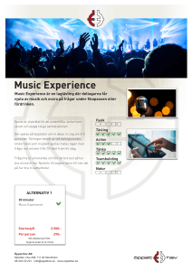 Music Experience - Stockholm