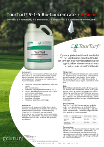 TourTurf® 9-1-5 Bio-Concentrate + R Factor