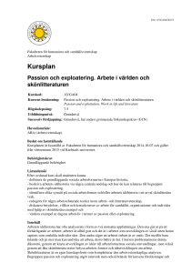 Kursplan - Karlstads universitet