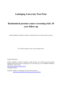 Randomised prostate cancer screening trial: 20