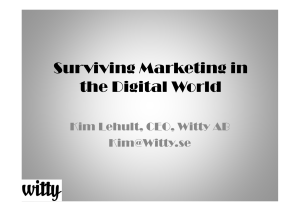 Surviving Marketing in the Digital Society
