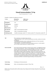 Visuell kommunikation 7,5 hp - CAS