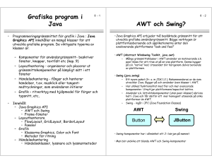 Grafiska program i Java AWT och Swing?