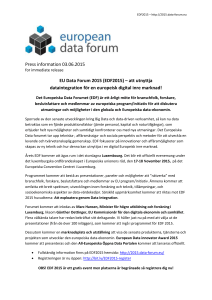 Sponsor EDF2015 - European Data Forum 2015
