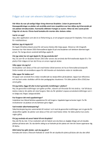 FAQ Lärplattor- PDF