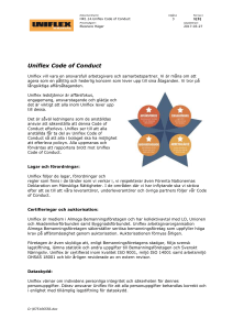 Uniflex code of conduct