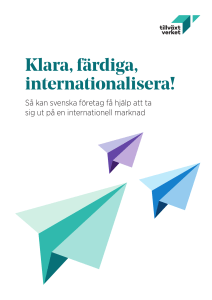 Klara, färdiga, internationalisera!