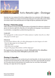 ReKo Retorik Light – Övningar