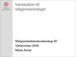 Introduktion till religionssociologin