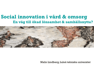 Social innovation - Innovationssluss
