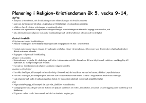 Mall LPP religion kristendomen åk 5