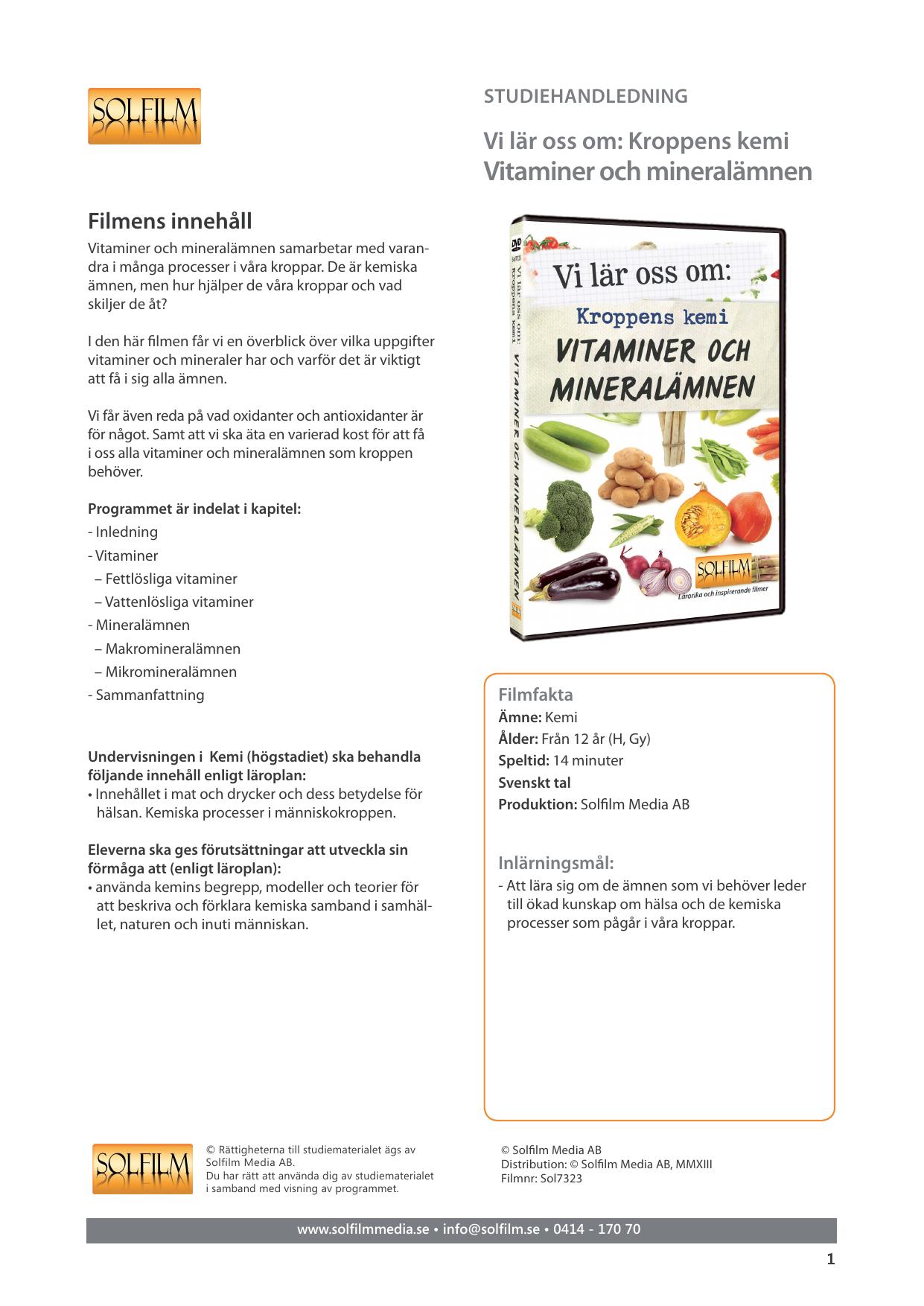 vilka vitaminer är fettlösliga