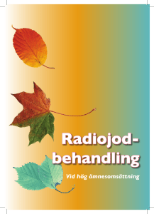 Radiojod- behandling
