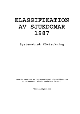 klassifikation av sjukdomar 1987