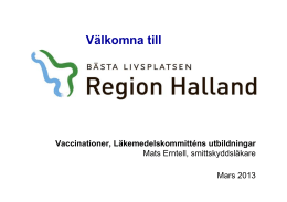 Vaccinationer - Region Halland
