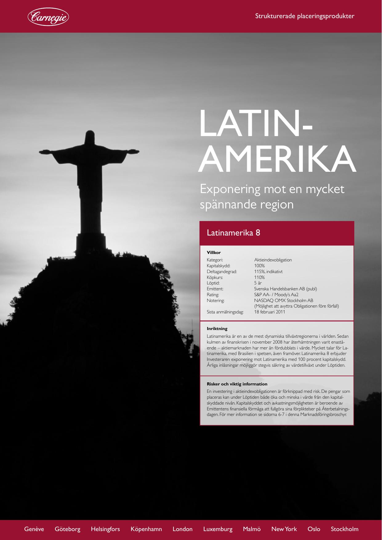 Sa paverkar finanskrisen latinamerika