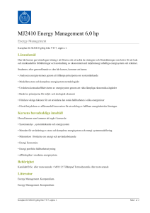 KTH | MJ2410 Energy Management 6,0 hp