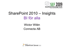 SharePoint 2010 - Insights
