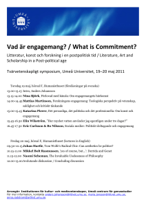 Vad är engagemang? / What is Commitment?