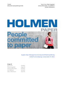 Holmen Paper - IEI - Linköpings universitet