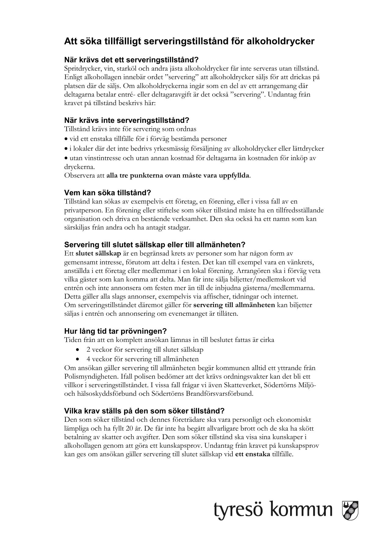 Checklista handläggning av serveringstillstånd c5e3b60179609
