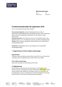 Funktionshinderrådet 29 september 2016