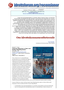 idrottsforum.org | Recension | Consumer Behaviour in Sport and