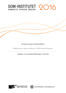 Interkodarreliabilitet - SOM-institutet