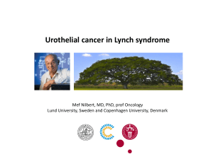 Urothelial cancer in Lynch syndrome