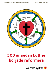 500 år sedan Luther började reformera