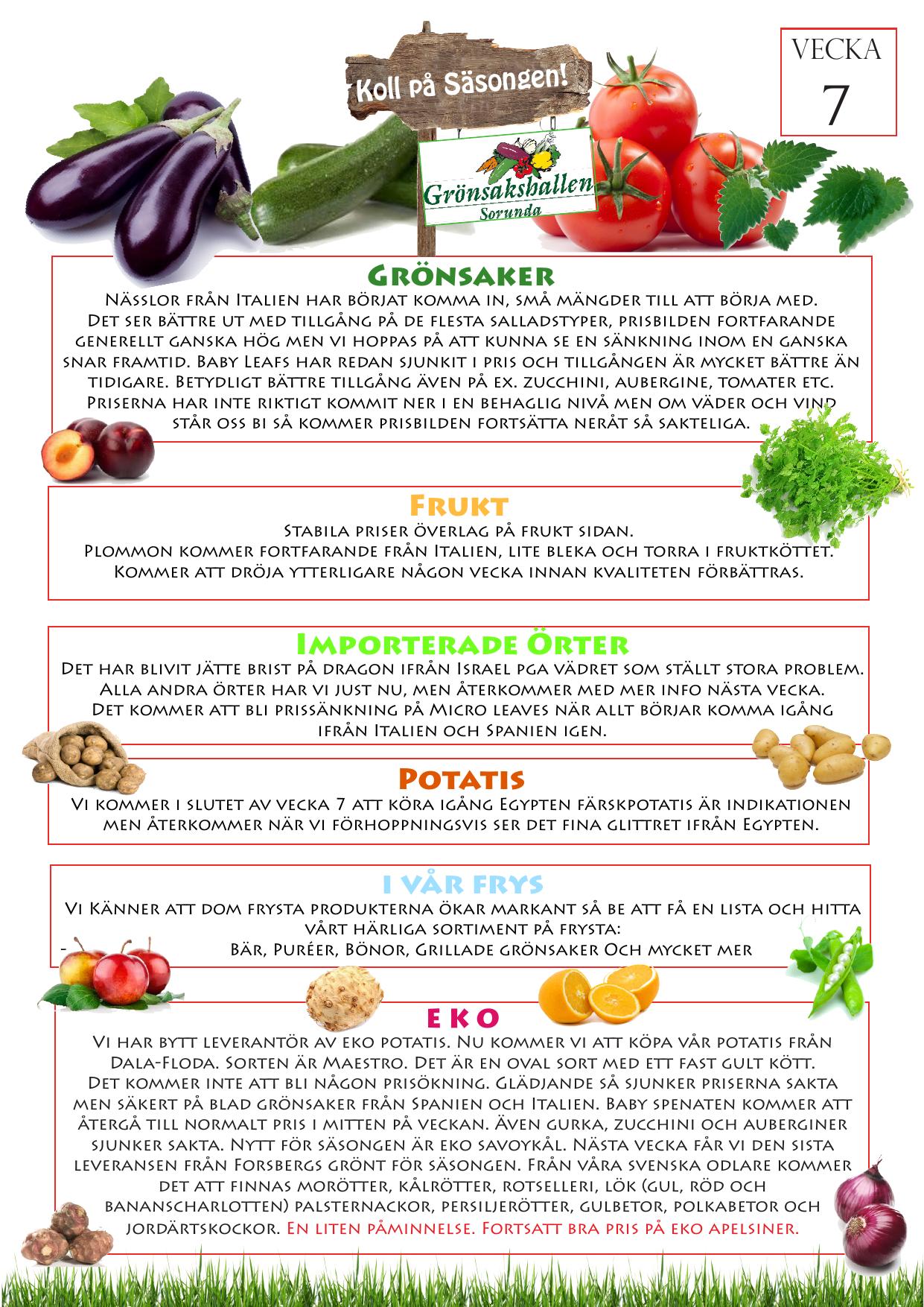 alla grönsaker lista