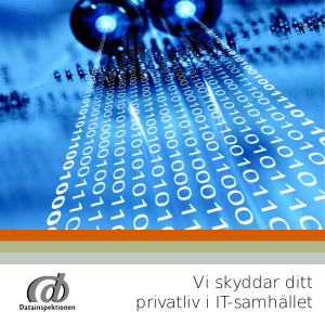 Datainspektionen - Vi skyddar ditt privatliv i IT
