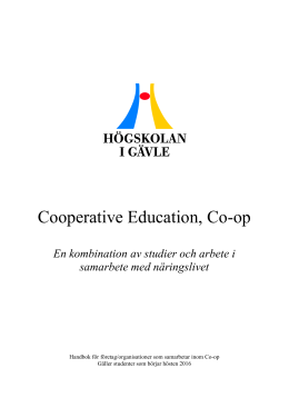 Cooperative Education, Co-op