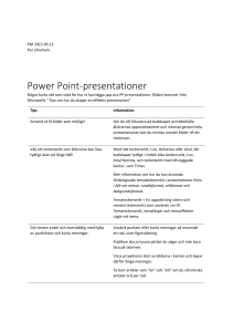 Power Point-presentationer