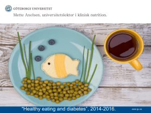 "Healthy eating and diabetes"", 2014-2016."