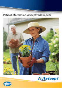 Patientinformation Aricept® (donepezil)