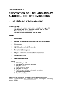 prevention och behandling av alkohol- och