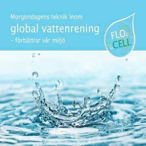 global vattenrening - Water treatment by FloCell