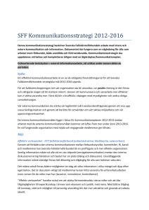 SFF Kommunikationsstrategi 2012-2016
